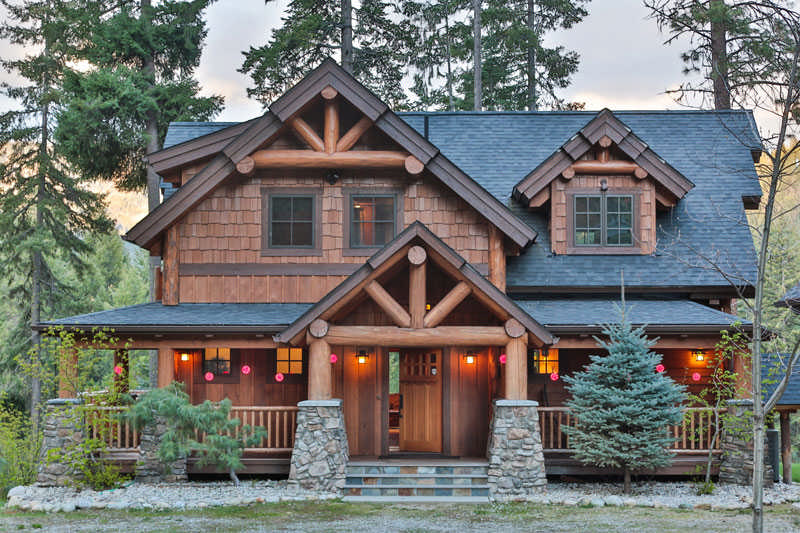 Photos Courtesy Of Natural Element Homes  OkanoganWenatchee National Print 001 1 Front Of Home  ...