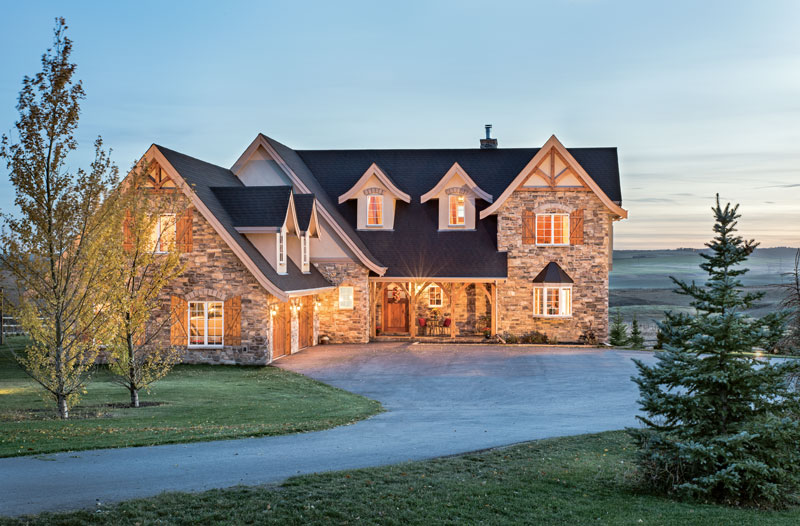 Traditional design in a canadian timber home for Style at home canada