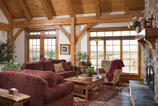 Traditional Design In A Canadian Timber Home