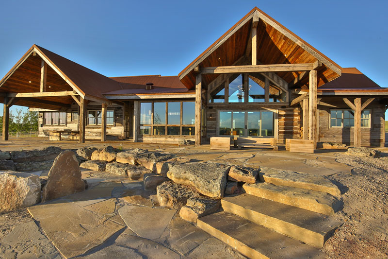 A ranch style timber home is a big sky beauty for Montana ranch house