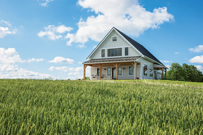 Timber Home Haven In A Hayfield