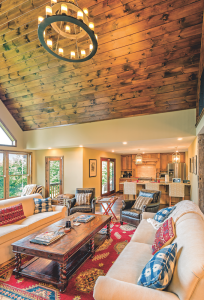 Since Kate is passionate about entertaining, it was very important for her to have an open floor plan. She searched through hundreds of plans in magazines and online to find a layout that appealed to her.