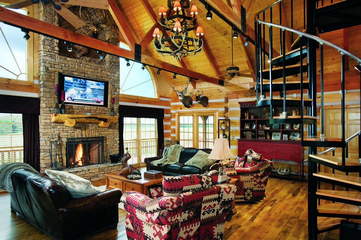 Tennessee Property Fuels Passion For Hunting Game And The Perfect Log Home.