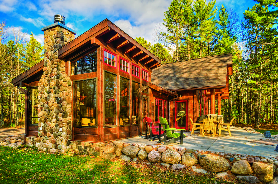 A cabin up north Northern wisconsin home builders