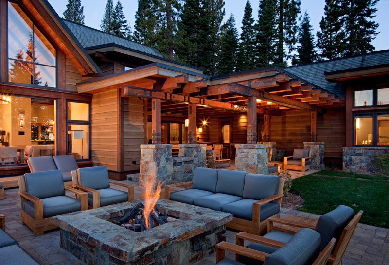 modern firepit fireplace bonfire outdoor