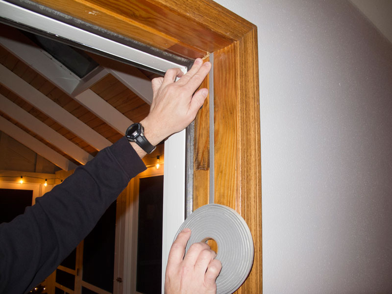 Whatever kind you choose weather stripping should fit snugly and meet tightly at the corners. It should also be thick enough to press tightly between door ... & How to Weatherproof Your Cabin