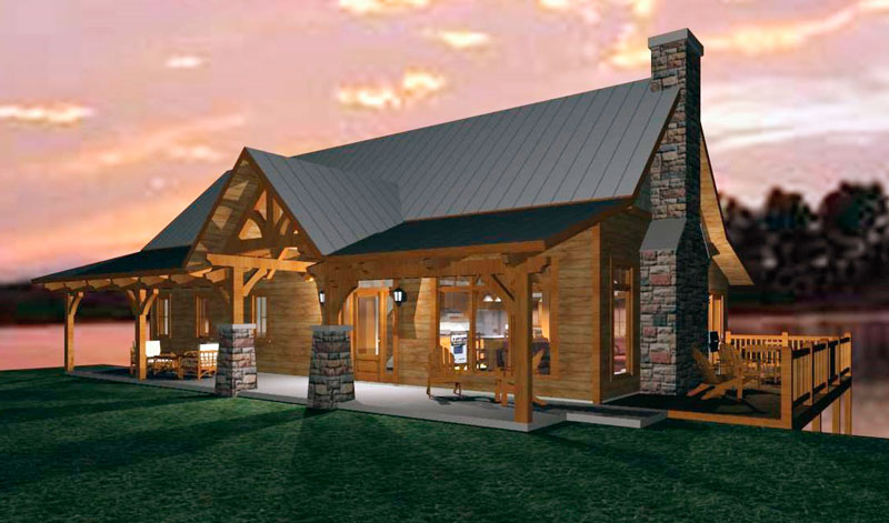 An Open Concept Timber Frame Design For A Family Cabin