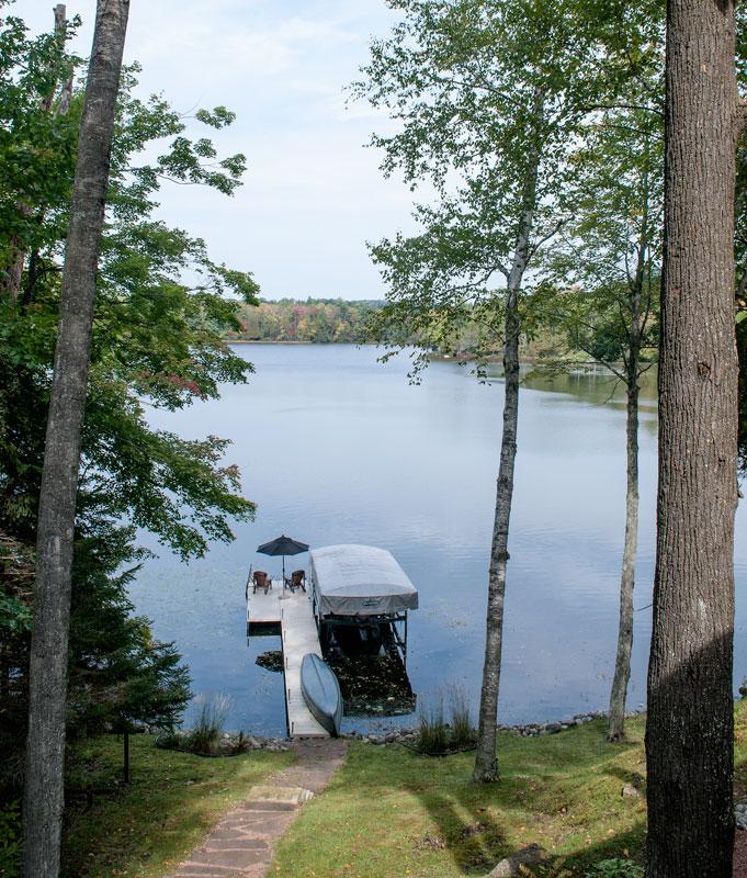 lake dock Wisconsin pontoon canoe