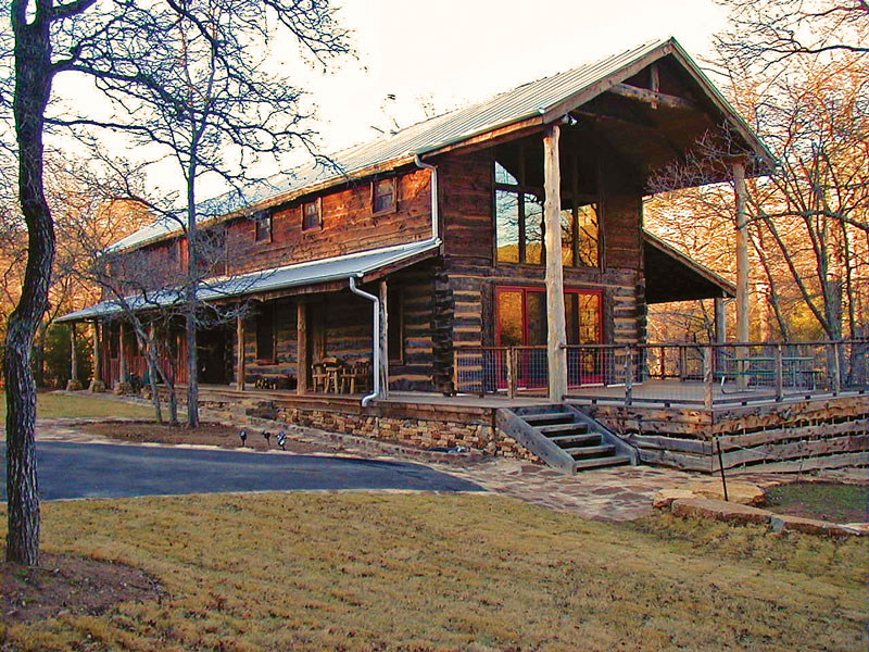 A texas log cabin with history for Log home plans texas