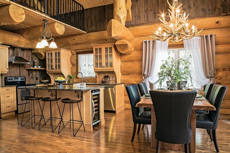 a scandinavian inspired log cabin