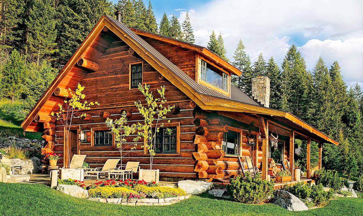 Big sky little cabin bonus info for Big log houses