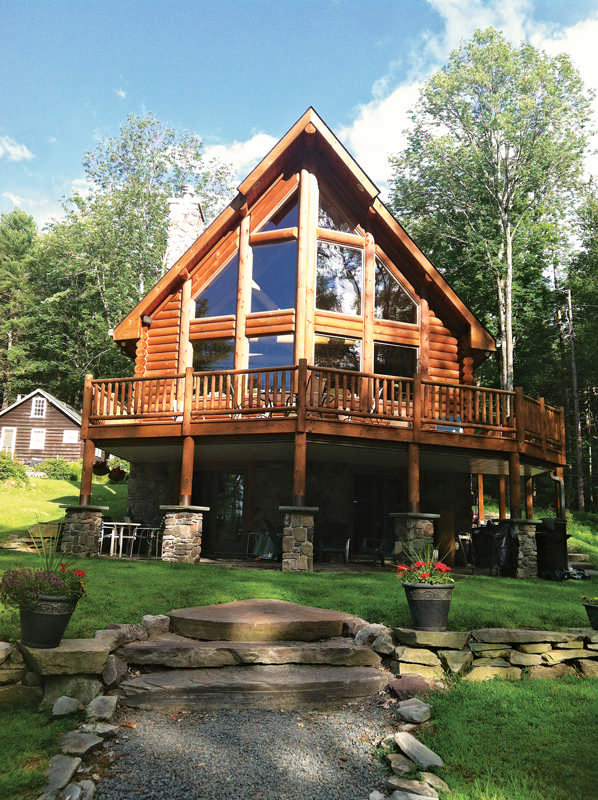 A log cabin dream in the poconos for Lake cabin rentals pennsylvania