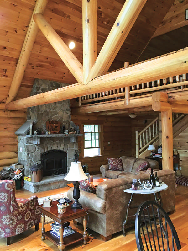 pocono poconos log living cozy the cabins cabin creekside in room