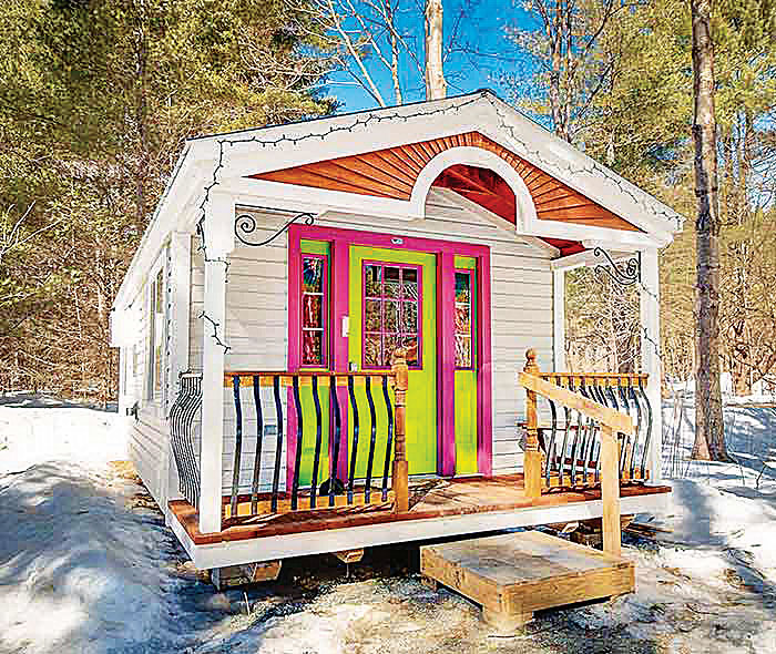 12x26 Tiny House Rental Airbnb Appleblossom Cottage Interior