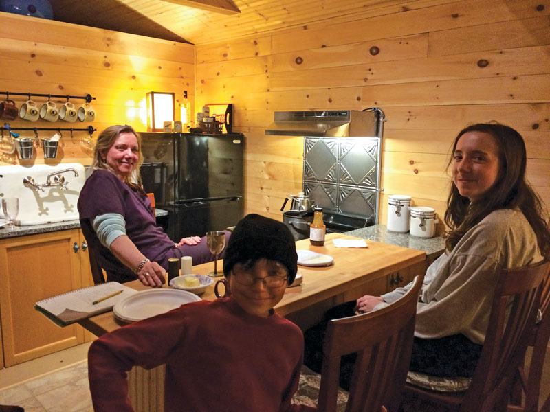 off grid cabin kitchen