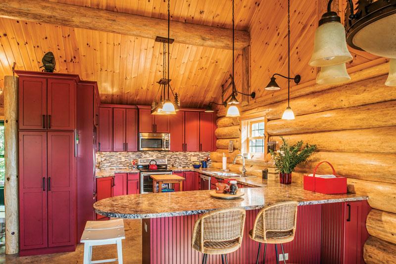Log Cabin Kitchen Designs House Photos Of