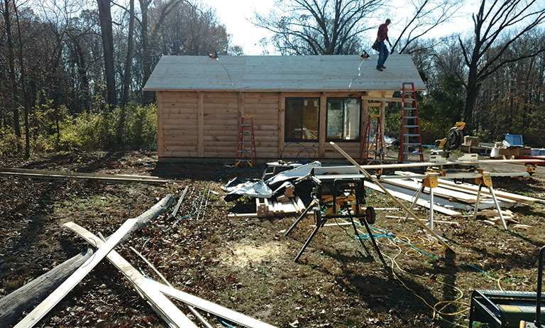building a cabin yourself