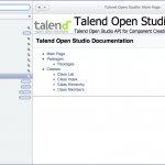 Talend Open Studio API component development docset for Dash