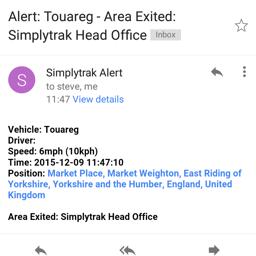Simplytrak Alerts