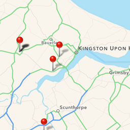 Image showing the vehicle tracking app on a phone