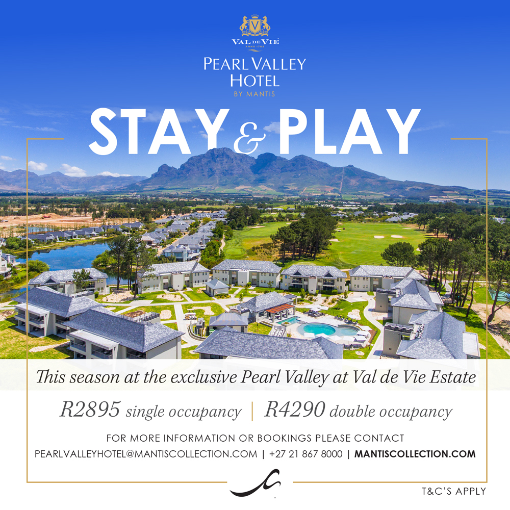 Pearl Valley Stay & Play offer