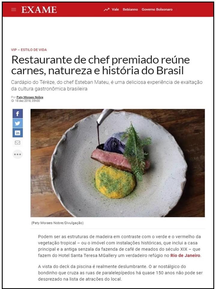 6637361e8 Hotel Santa Teresa Rio MGallery Collection - Luxury hotel - Exame Online -  December 2018