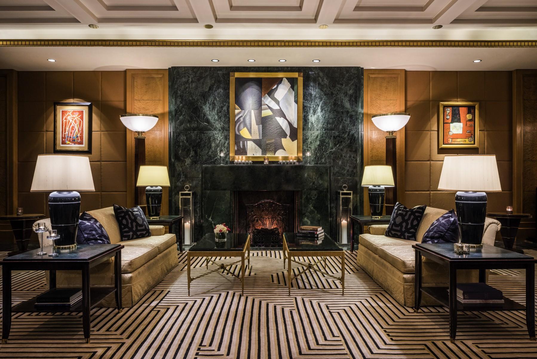 Sofitel New York Lobby Fireplace
