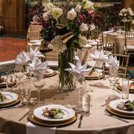 Ballroom Dinner Table Set