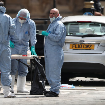Car rampage outside Westminister treated as 'terrorist incident'