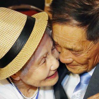 Tears, hugs, arguments asKorean families reunite seven decades after division