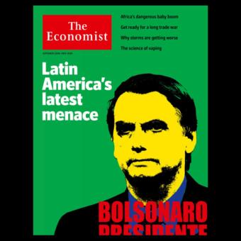 "With a controversial cover, The Economist calls Bolsonaro ""a menace"""