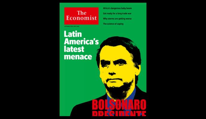 "With a controversial cover, The Economist calls Bolsonaro ""a menace"