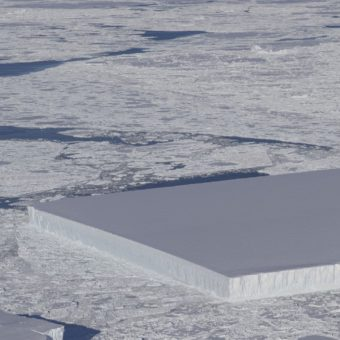 There's a perfectly rectangular iceberg floating in Antarctica. Here's how it got that way.