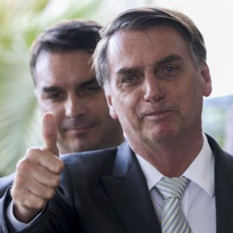 Bolsonaro receives a medal for bravery after saving a soldier from drowning