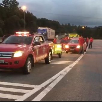 PR toll charges tariffs from volunteer firemen on the way to Brumadinho