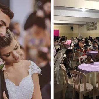 Espírito Santo couple celebrates wedding throwing dinner for 160 people in need