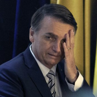 Brazil's Bolsonaro tweets a lewd image, evoking outrage