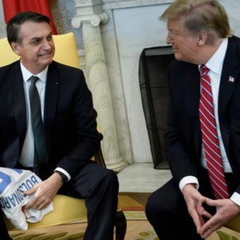 Bolsonaro and Trump meet at the White House