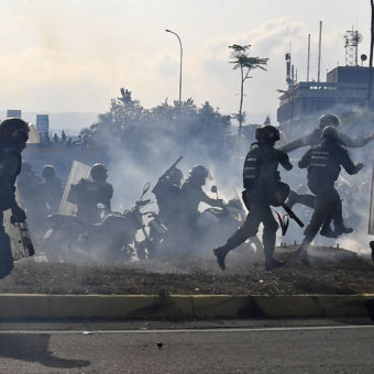 Clashes erupt inVenezuelaas opposition leader Guaidó announces 'final phase' to remove Maduro