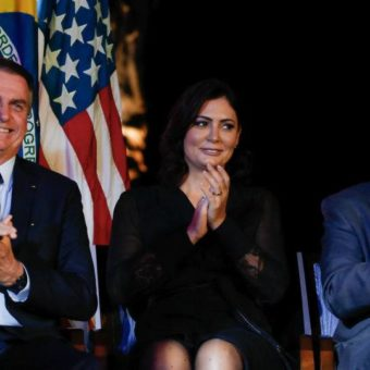 Bolsonaro celebrates Fourth of July at US embassy