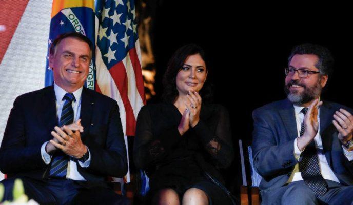 Bolsonaro celebrates Fourth of July at US embassy