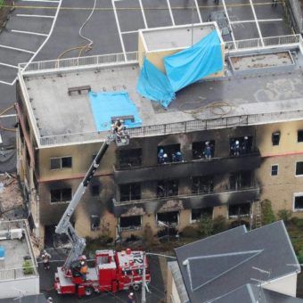 Man sets fire to animation studio in Japan, killing 33 people