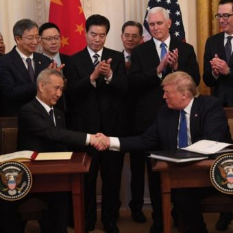 U.S. and China sign first stage of trade deal, easing tensions