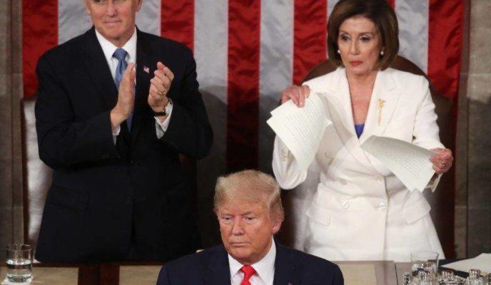 Trump's State of the Union address: emphasis on economy and torn speech