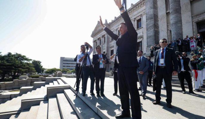 Bolsonaro attends Uruguayan president's inauguration ceremony