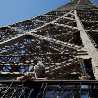 Eiffel Tower reopens after three-month shutdown