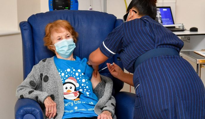 90-year-old British grandmother is first person to receive Pfizer vaccine