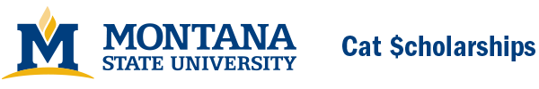 Logo for Montana State University-Cat Scholarships