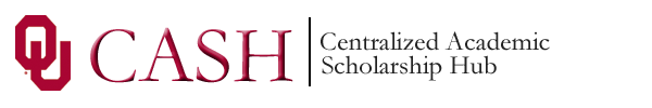 Logo for University of Oklahoma Scholarships