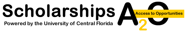 Logo for University of Central Florida Scholarships